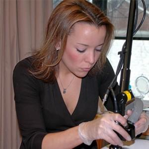 Laser technician at Rocky Mountain Laser College, Jess Brune